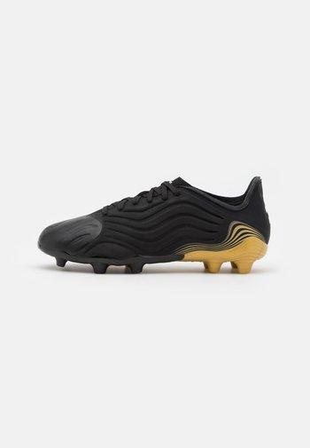 COPA SENSE.1 FG UNISEX - Moulded stud football boots - core black/footwear white/gold metallic