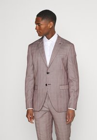 Selected Homme - SLHSLIM KNOXLOGAN CHECK SUIT SET - Traje - red dahlia/white - 2