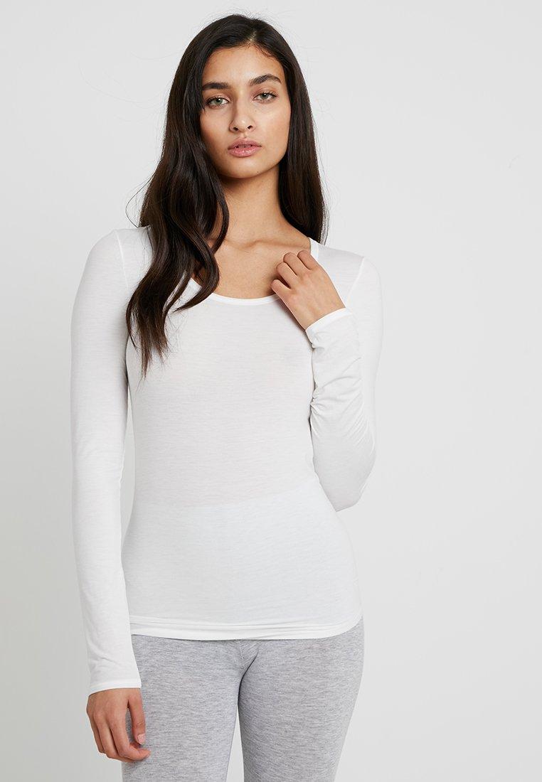 Schiesser - PERSONAL FIT LONGSLEEVE - Pyjama top - offwhite