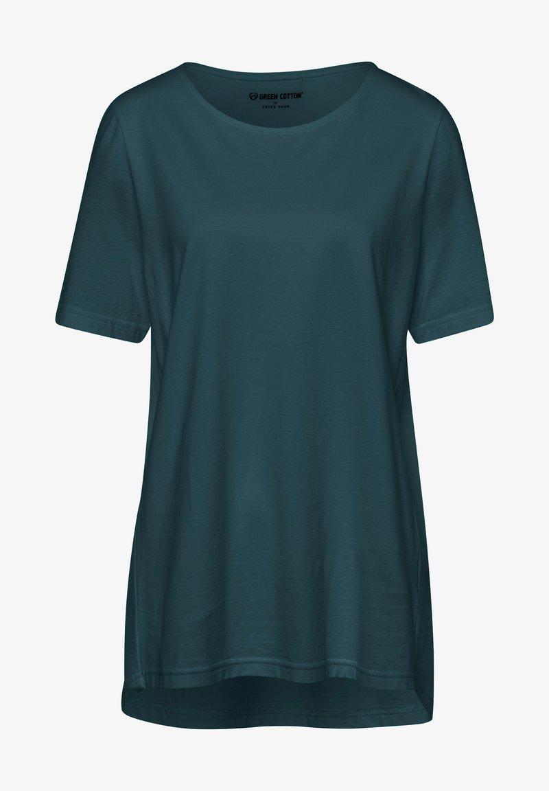 Green Cotton - MIT RUNDHALSAUSSCHNITT - T-shirt basic - dunkelgrün