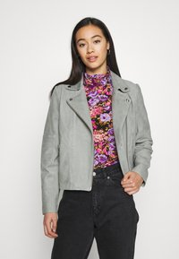 YAS - YASMOUSSE JACKET - Leather jacket - shadow - 0