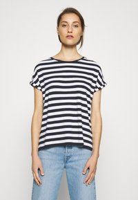 Marc O'Polo DENIM - Print T-shirt - multi/scandinavian blue - 0