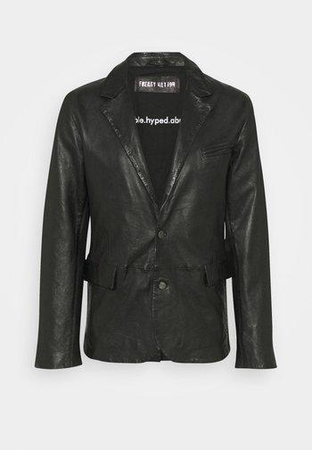 THE ONE MAN - Leather jacket - black