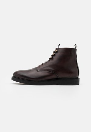 BATTLE - Lace-up ankle boots - brown
