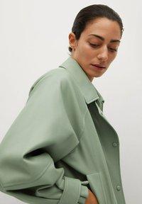 Mango - CREAM - Faux leather jacket - pastellgrün - 4