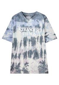 PULL&BEAR - Print T-shirt - blue - 0