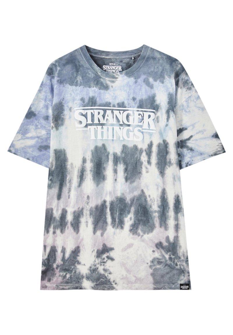 PULL&BEAR - Print T-shirt - blue