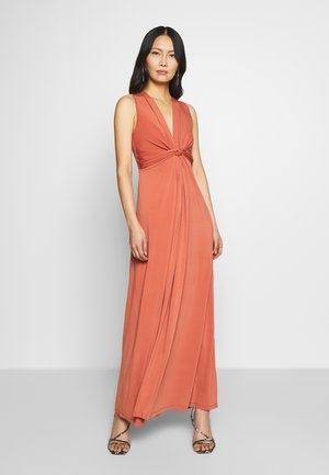 BASIC - FRONT KNOT MAXI DRESS - Długa sukienka - bruschetta