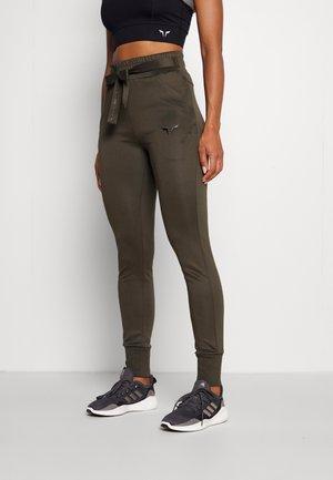 SHE DO KNOT  - Pantaloni sportivi - olive