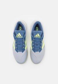 adidas Performance - FORCEBOUNCE - Handball shoes - half silver/hi-res yellow/blue - 3