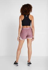 Under Armour - PLAY UP SHORTS - Pantalón corto de deporte - hushed pink/dash pink - 2
