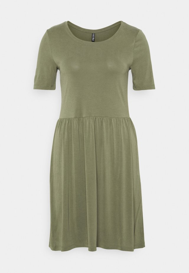 PCKAMALA DRESS - Sukienka z dżerseju - deep lichen green
