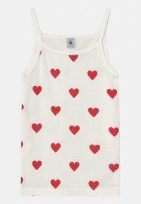 Petit Bateau - HEART 2 PACK - Undershirt - white/red - 2