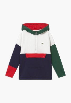 Jersey con capucha - vert/farine/marine/rouge