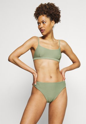 ESSENTIALS BRALETTE AND ESSENTIALS HIGH RISE - Bikini - khaki
