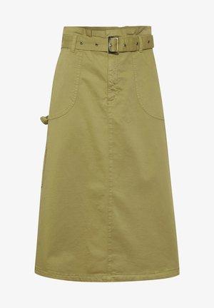 A-line skirt - green moss