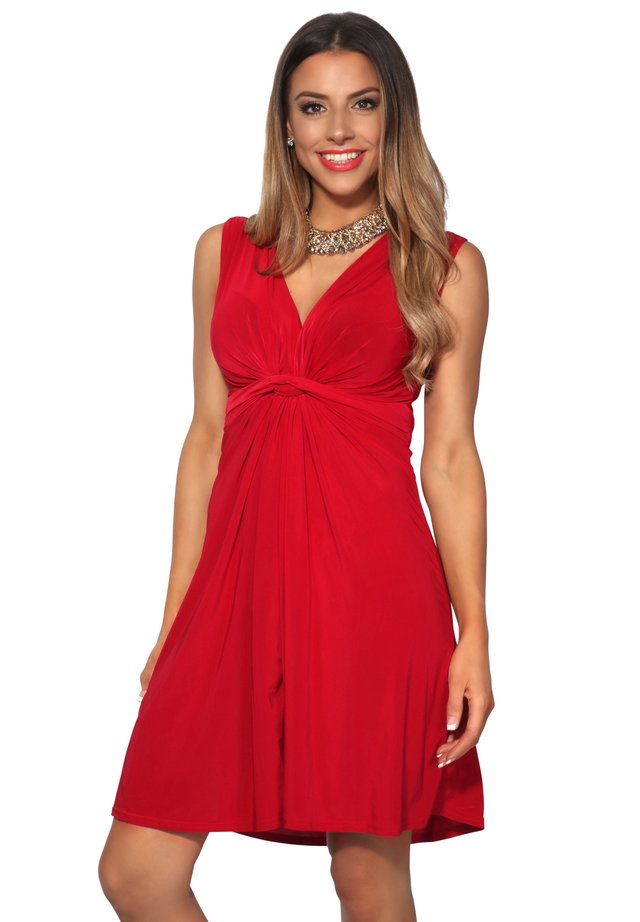KNOT FRONT SELF - Cocktail dress / Party dress - red