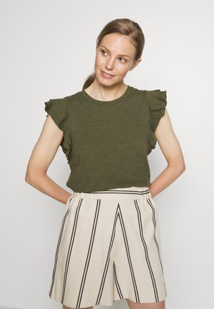 RUFFLE - T-shirt z nadrukiem - army jacket green