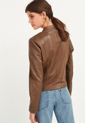 Leather jacket - tan
