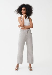 PULL&BEAR - Straight leg jeans - grey - 1