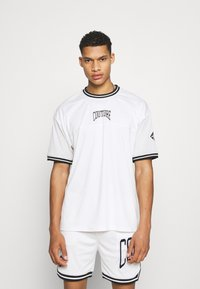 The Couture Club - VARSITY BADGED MESH OVERSIZED T-SHIRT - Print T-shirt - white - 0