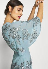 Maya Deluxe - WRAP FRONT ALL OVER EMBELLISHED CAPE MAXI DRESS - Occasion wear - blue - 4