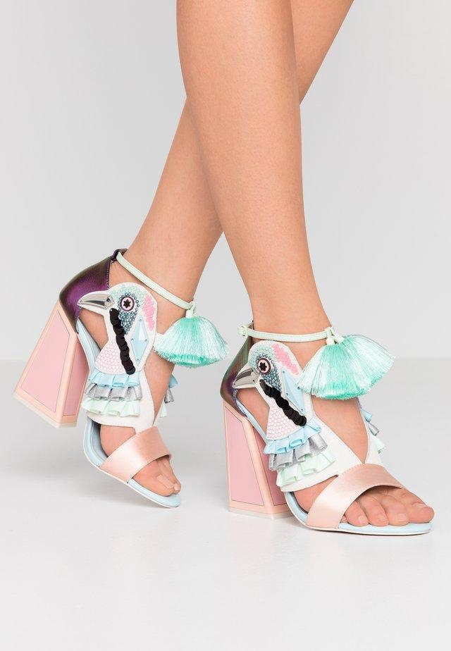 AYA - High heeled sandals - pebble/multicolor