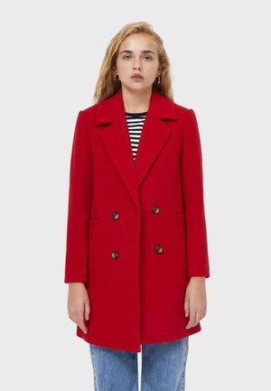 BASIC - Classic coat - dark red