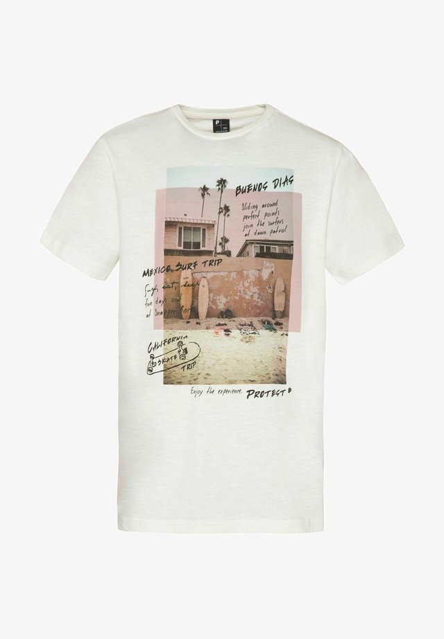 T-shirt print - seashell
