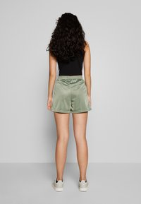 Fila Tall - TARIN HIGH WAIST - Shorts - sea spray/bright white