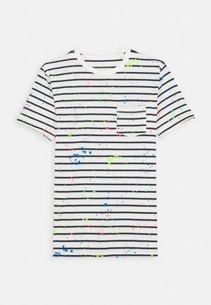 SPLATTER TEE - Print T-shirt - ivory/neon multi