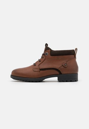 JFWSTARKE BOOT - Lace-up ankle boots - cognac