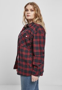 Urban Classics - OVERSIZED  - Button-down blouse - midnightnavy/red - 4