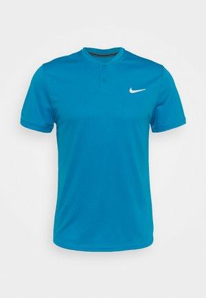 DRY BLADE - T-shirt print - neo turq/white