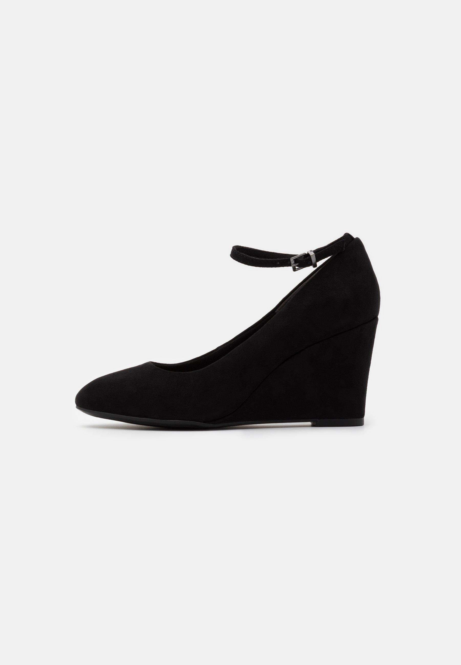 Gabor Peep Toe lav kilehæl Court sko | Fruugo NO