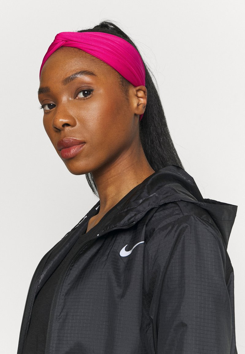 Nike Performance - TWIST KNOT HEADBAND - Paraorecchie - fireberry/white