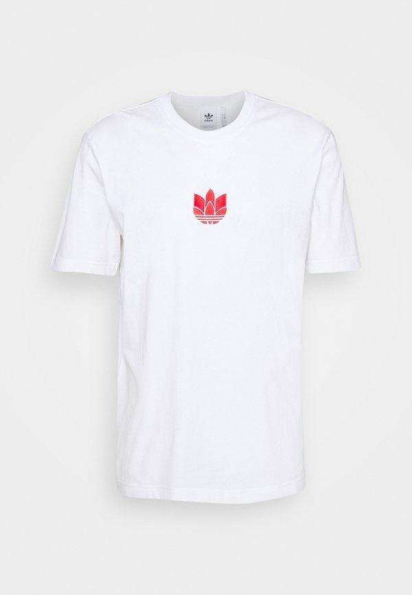 adidas Originals TEE UNISEX - T-shirt z nadrukiem - white/scarlet/biały Odzież Męska GGHD