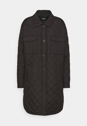 ONLTANZIA LONG QUILTED SHACKET - Parka - black