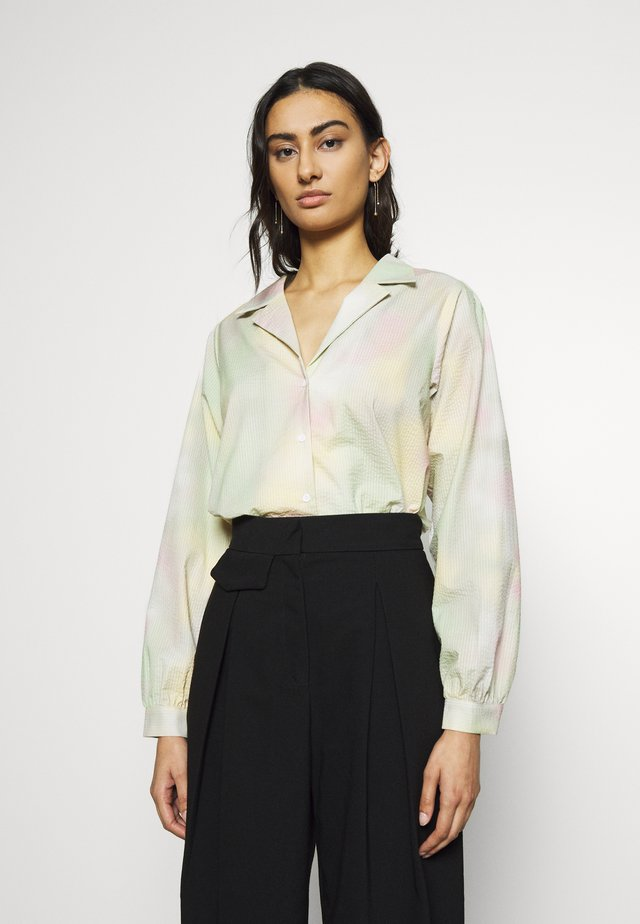 NIKKI SHIRT - Bluzka - mint/purple/yellow