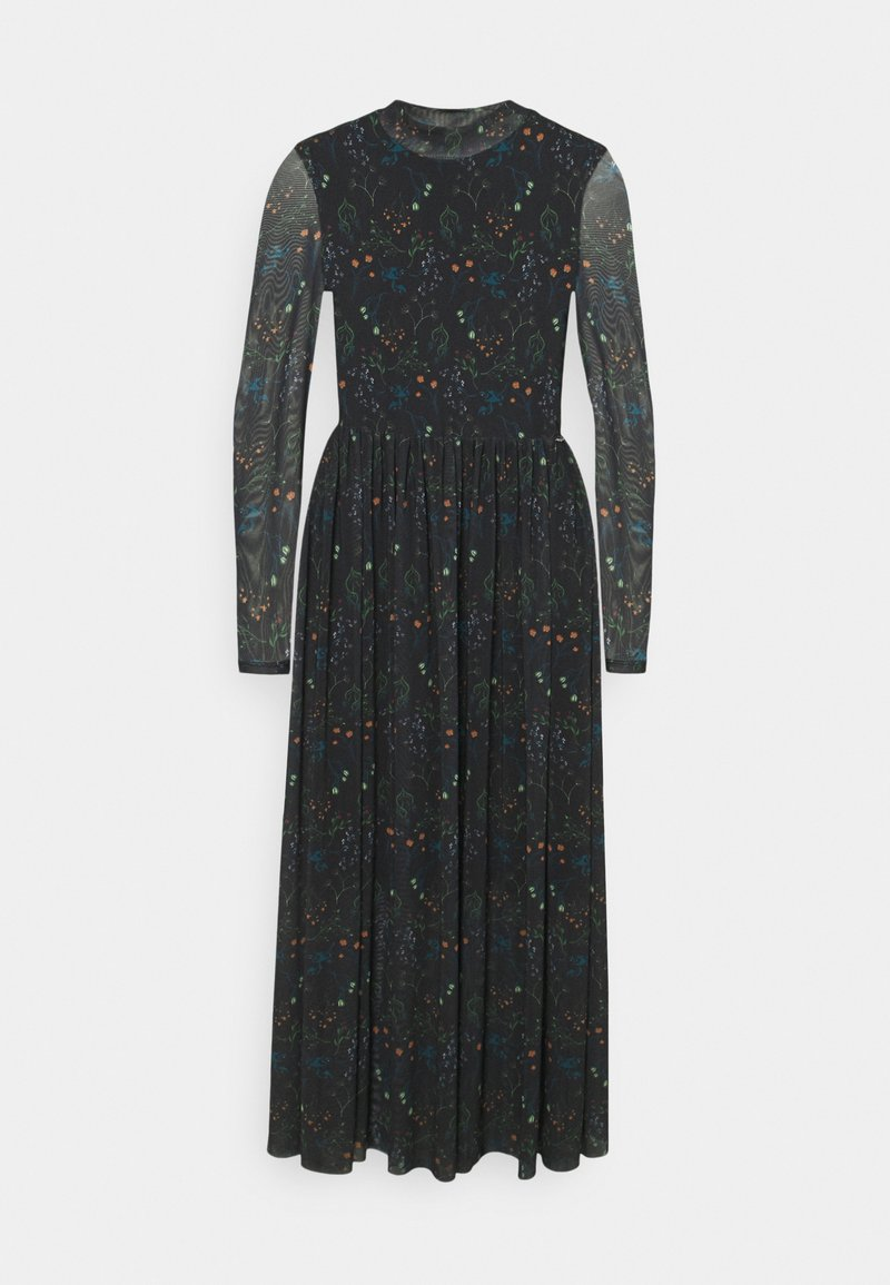 TOM TAILOR DENIM - PRINTED DRESS - Day dress - black