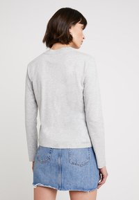 Calvin Klein Jeans - MONOGRAM EMBROIDERY LONG SLEEVE - Top s dlouhým rukávem - light grey heather - 2