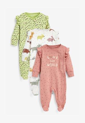 3 PACK APPLIQUÉ CHARACTER - Sleep suit - tan