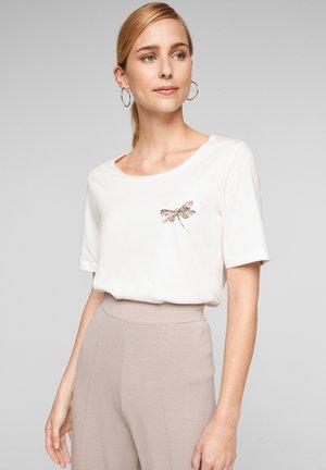 PERLES - Basic T-shirt - white