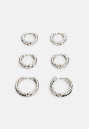 MIXED HOOP 3 PACK - Korvakorut - silver-coloured