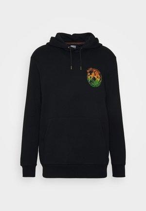 WOODCUT MOON PRINT HOODY - Bluza z kapturem - black