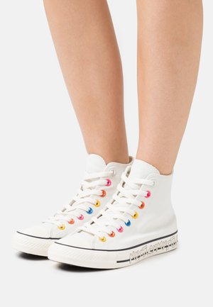 CHUCK TAYLOR ALL STAR MY STORY - Korkeavartiset tennarit - egret/hyper pink/black