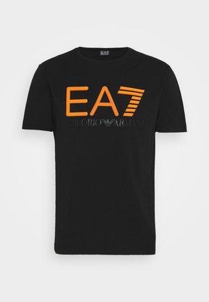 Camiseta estampada - black/orange