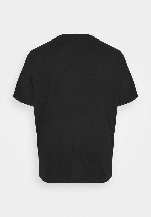 Calvin Klein T-shirt z nadrukiem - black/czarny Odzież Męska YOQV