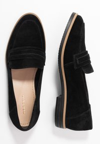 Anna Field - LEATHER LOAFER - Nazouvací boty - black - 3