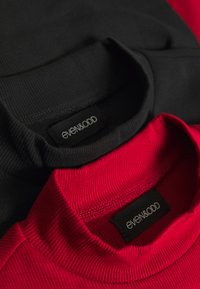 Even&Odd - 2 PACK - Langarmshirt - black/red - 5